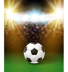 Abstract soccer football poster stadium background vector