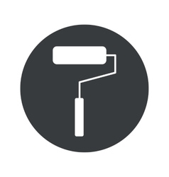Monochrome round paint roller icon vector