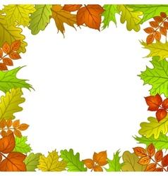 framework from leaves vector image