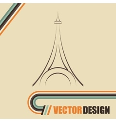 Eiffel tower design vector