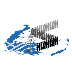 Greece Migration vector image