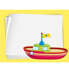 Toy boat border vector