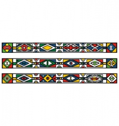 African Ndebele patterns vector image