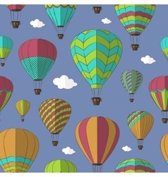Air balloons set pattern vector
