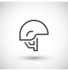 Army helmet line icon vector image