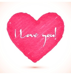 Bright pink marker textured heart vector image