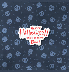 cartoon halloween card vector image vector image