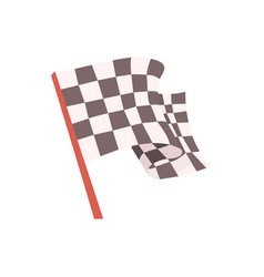 Checkered flag for the race start signal racing vector