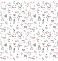 Cute hand drawn summer theme seamless pattern vector