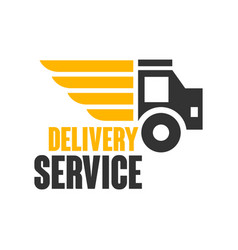 Delivery service logo design template vector