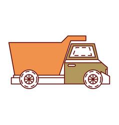 Dump truck isolated icon vector