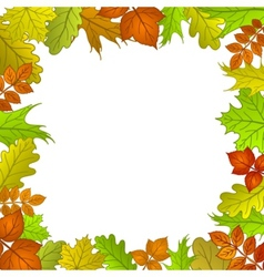 framework from leaves vector image