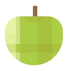 Fresh green apple icon vector image