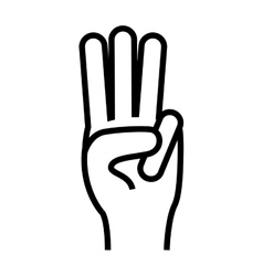 hand gesture icon image vector image