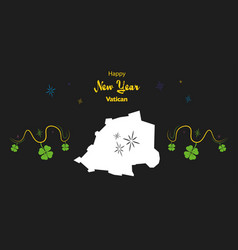 Happy new year theme with map of vatican city vector
