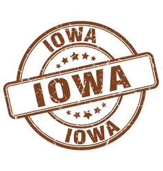 Iowa brown grunge round vintage rubber stamp vector