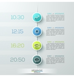 Modern business circle infographics template vector image