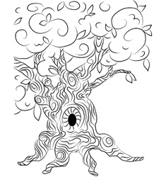 Old oak tree for tales graphics vector image