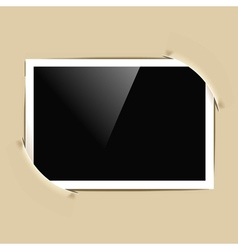 photo frame in album vector image vector image