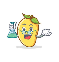 Professor mango character cartoon mascot vector