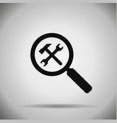 search repair and optimization icon vector image