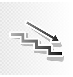 Stair down with arrow new year blackish vector