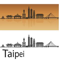 Taipei skyline vector
