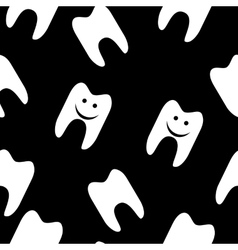 Tooth seamless pattern for web design vector image