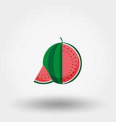 watermelon flat icon vector image vector image