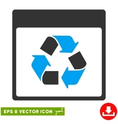 Recycle calendar page eps icon vector