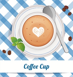Coffee cup with love vector