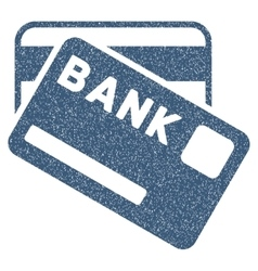 Bank cards grainy texture icon vector