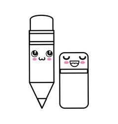 Pencil kawaii cartoon vector