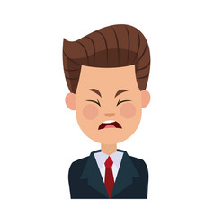 businessman character sad people problem vector image