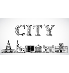 City town background vector