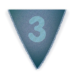 Bunting flag number 3 vector image