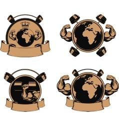 Set design medals symbols vector