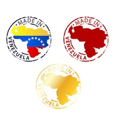 Made in venezuela stamp vector