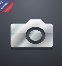 Digital photo camera icon symbol 3d style trendy vector