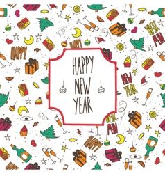 Festive pattern happy new year vector