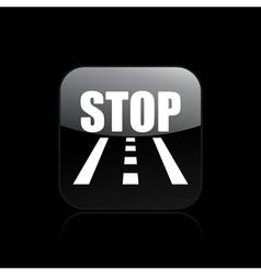 road stop icon vector image