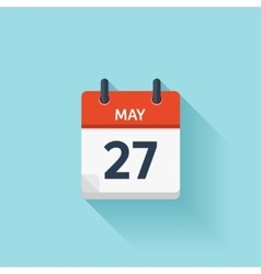 May 27  flat daily calendar icon date and vector