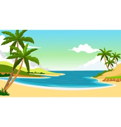 Beach background for you design vector