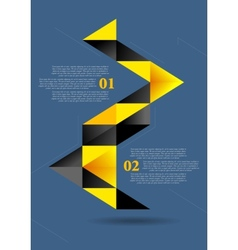 Abstract flat geometric infographics design vector