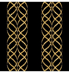Arabic gold seamless pattern wave vector