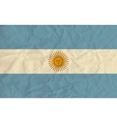 Argentina paper flag vector image