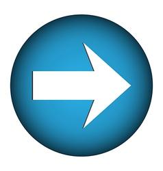 Arrow sign icon vector image vector image