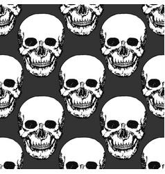 Black skulls print skull pattern hand drawn vector