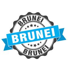 Brunei round ribbon seal vector