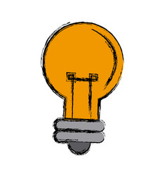 cartoon bulb light creativity illumination vector image